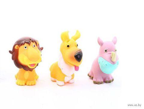 """Набор игрушек для купания """"Лев, носорог и собачка"""" (3 шт)"""