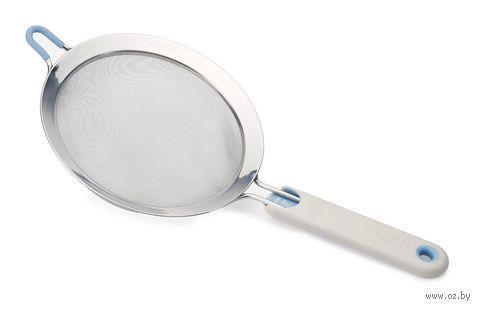 """Сито металлическое с ручкой """"Shake-It"""" (410х200х80 мм; светло-серое) — фото, картинка"""