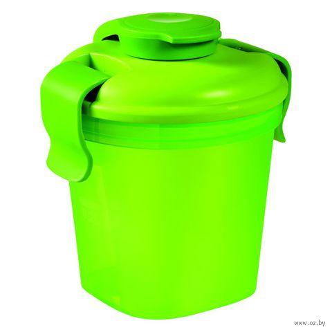 """Контейнер для еды """"Lunch&Go"""" (0,4 л; прозрачный зеленый)"""