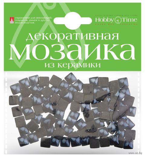 Мозаика декоративная из керамики №25 (8х8 мм; 100 шт.; черный) — фото, картинка