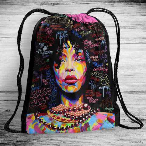 """Рюкзак-мешок """"Арт-девушка"""" (арт. 1) — фото, картинка"""