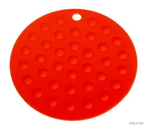 Подставка под горячее силиконовая (175x2 мм; красный) — фото, картинка