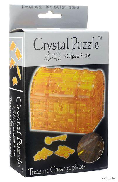 """Пазл-головоломка """"Crystal Puzzle. Сундук"""" (52 элемента)"""
