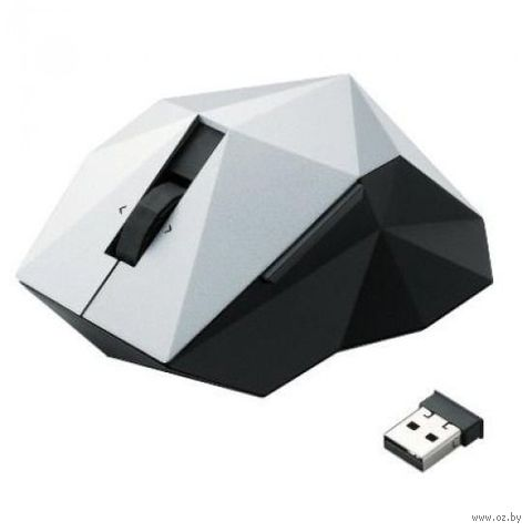 Беспроводная лазерная мышь Elecom Polygon Orime (USB; silver)