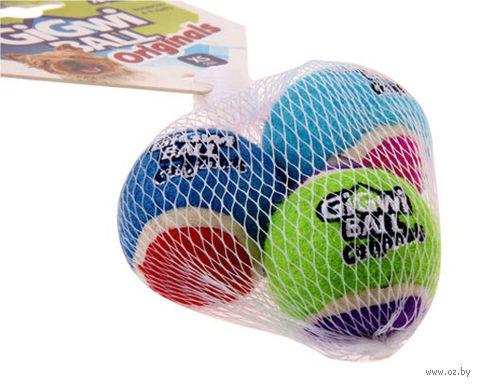 """Игрушка для собак """"Теннисный мяч"""" (3 шт.; 4 см) — фото, картинка"""