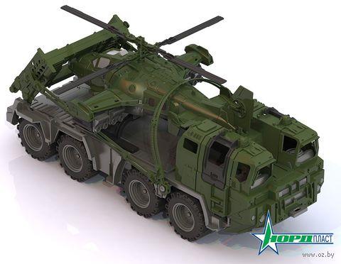 """Машинка """"Военный тягач. Щит"""" (с вертолетом) — фото, картинка"""