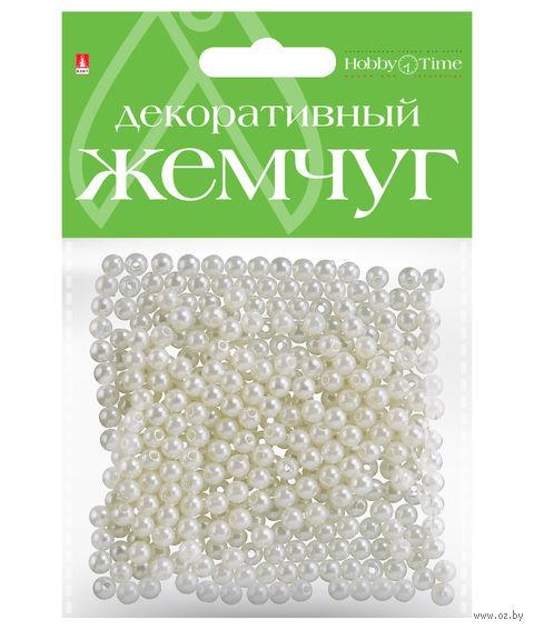 Набор бусин декоративных (5 мм; под жемчуг) — фото, картинка