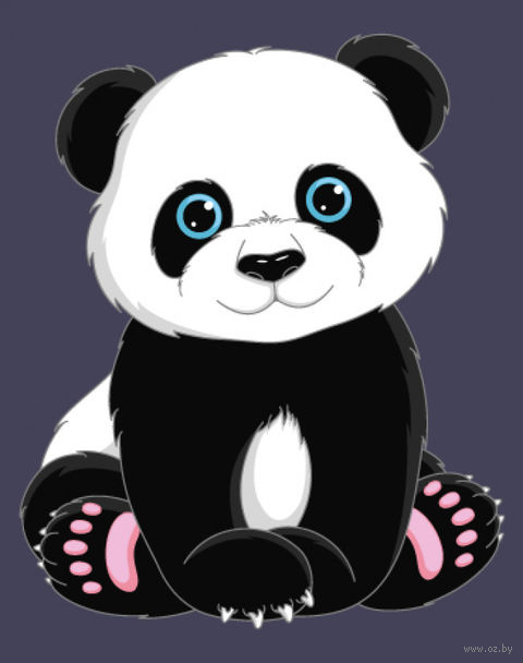 """Картина по номерам """"Панда"""" (165х130 мм) — фото, картинка"""