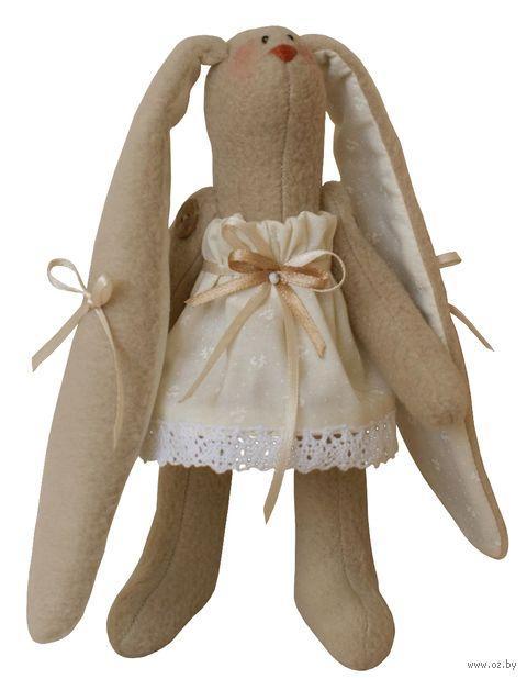 """Набор для шитья из ткани """"Зайка в бежевом платье"""" — фото, картинка"""