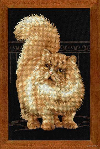 """Вышивка крестом """"Персидский кот"""" (260х380 мм) — фото, картинка"""