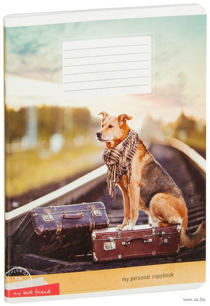 """Тетрадь полуобщая в клетку """"Собаки. My Best Friend"""" (48 листов; в ассортименте)"""