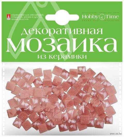 Мозаика декоративная из керамики №29 (8х8 мм; 100 шт.; розовый) — фото, картинка