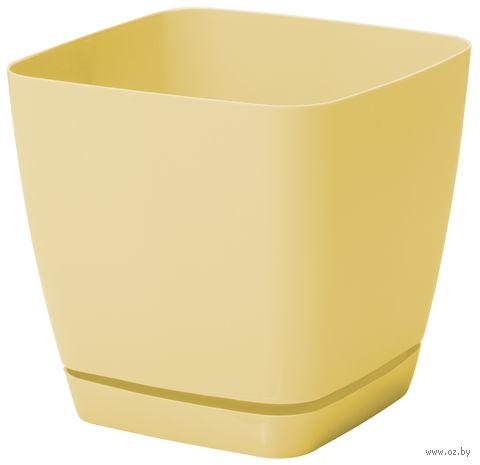 """Цветочный горшок """"Тоскана"""" (11х11х10,5 см; желтая пастель) — фото, картинка"""