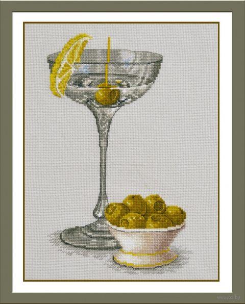 """Вышивка крестом """"Натюрморт с оливками"""" (170х280 мм) — фото, картинка"""