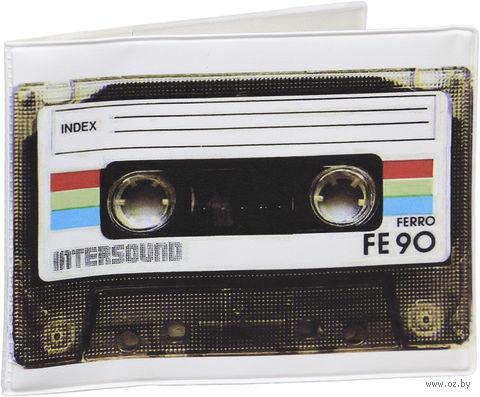 """Обложка для зачетной книжки """"Ретро-кассета"""" — фото, картинка"""