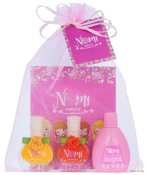 """Подарочный набор детский """"Nomi №16"""" (2 лака для ногтей, жидкость для снятия лака) — фото, картинка"""
