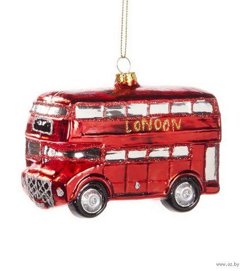 """Ёлочная игрушка """"Двухэтажный автобус"""" — фото, картинка"""