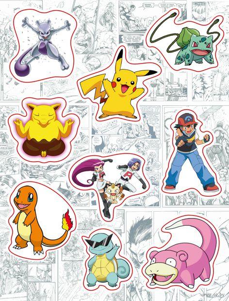 "Набор виниловых наклеек №156 ""Pokemon"""