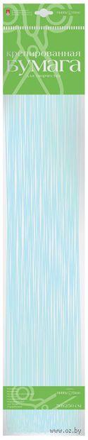 """Бумага креповая цветная """"Перламутровая"""" (50х250 см; голубая) — фото, картинка"""