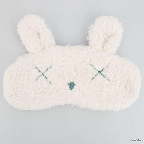 """Маска для сна """"Пушистый заяц"""" (белая) — фото, картинка"""