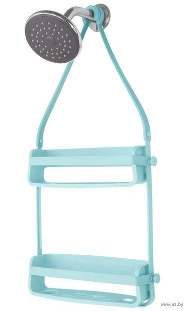 "Полка для ванной ""Flex"" (337х635х85 мм; голубая) — фото, картинка"