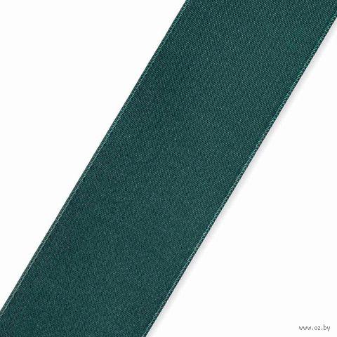 Лента атласная 46 (38 мм; 25 м; темно-зеленый) — фото, картинка