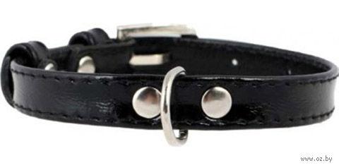 Ошейник для щенков и собак мелких пород (21-29 см, черный, арт. 3366-1)