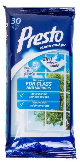 Влажные салфетки для стекол и зеркал (30 шт.) — фото, картинка