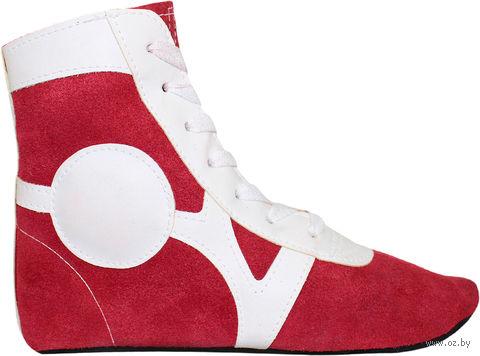 Обувь для самбо SM-0101 (р. 39; замша; красная) — фото, картинка