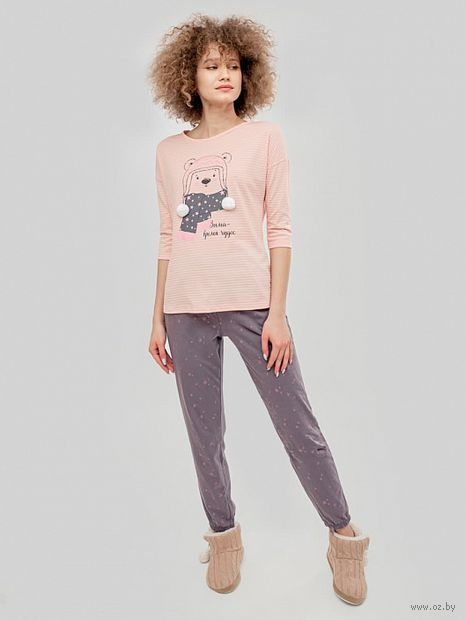 """Пижама женская """"592280"""" (розовый) — фото, картинка"""