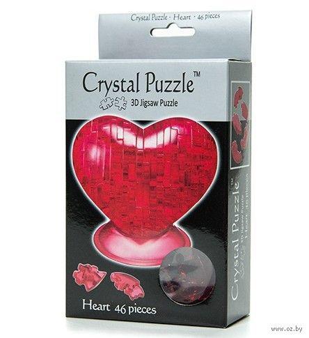 """Пазл-головоломка """"Crystal Puzzle. Красное сердце"""" (46 элементов)"""