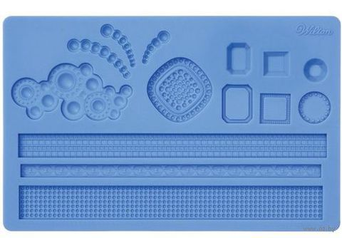 """Мат (молд) кондитерский для нанесения рисунка на мастику """"Драгоценности"""" (арт. WLT-409-2551)"""