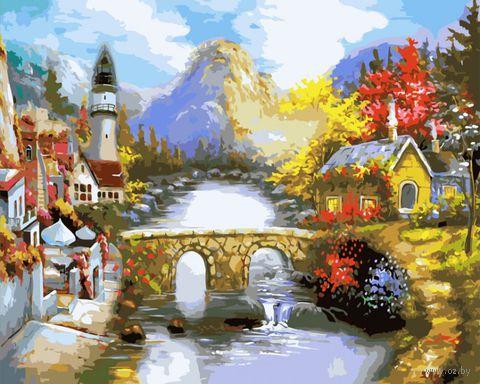 """Картина по номерам """"Мост через реку"""" (400х500 мм)"""