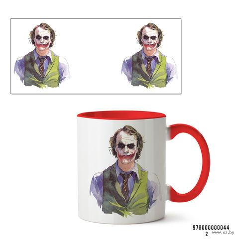 """Кружка """"Джокер из вселенной DC"""" (красная; арт. 044) — фото, картинка"""