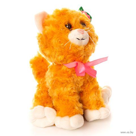 """Мягкая игрушка """"Котик с цветком"""" (14 см) — фото, картинка"""