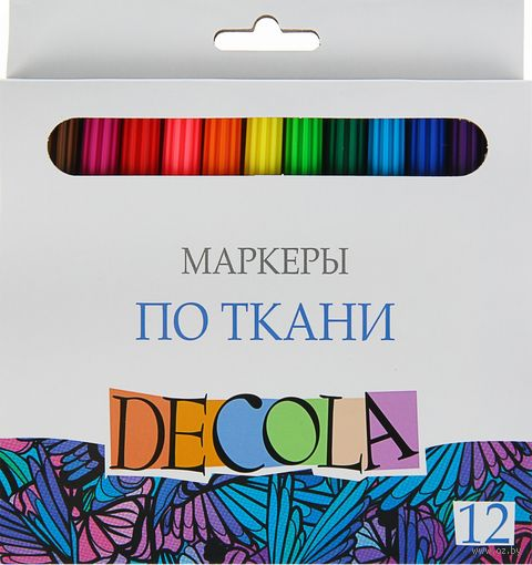 "Набор маркеров по ткани ""Decola"" (12 цветов) — фото, картинка"