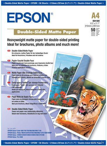 Особоплотная ярко-белая бумага с двусторонним матовым покрытием Epson (50 листов, 178 г/м2, A4)