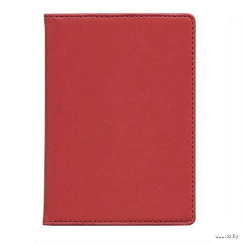 "Обложка для паспорта Time/System ""Skiver"" (dark red)"