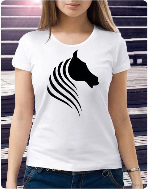 "Футболка женская ""Лошадь"" (размер 50; арт. 52) — фото, картинка"