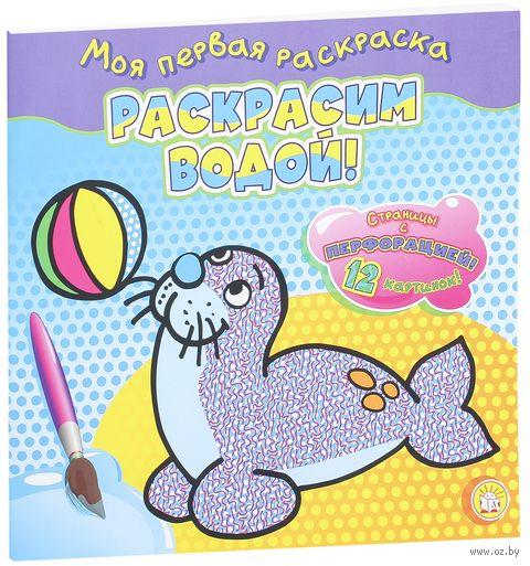 Тюлень. Раскрась водой! — фото, картинка
