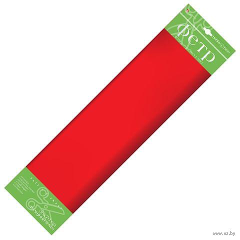Фетр (500х700 мм; красный) — фото, картинка