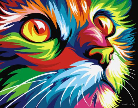 "Картина по номерам ""Радужный кот"" (165х130 мм) — фото, картинка"