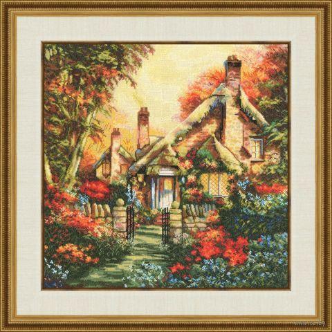 """Вышивка крестом """"Сказочный домик"""" (376х376 мм) — фото, картинка"""