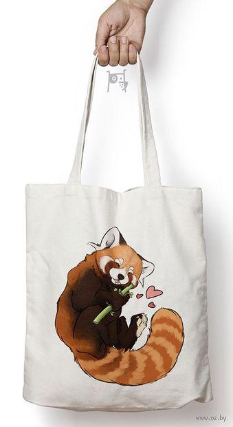 "Сумка-шоппер ""Красная панда"" — фото, картинка"
