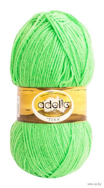 """Пряжа """"Adelia. Tina №65"""" (100 г; 308 м; ярко-зелёный) — фото, картинка"""