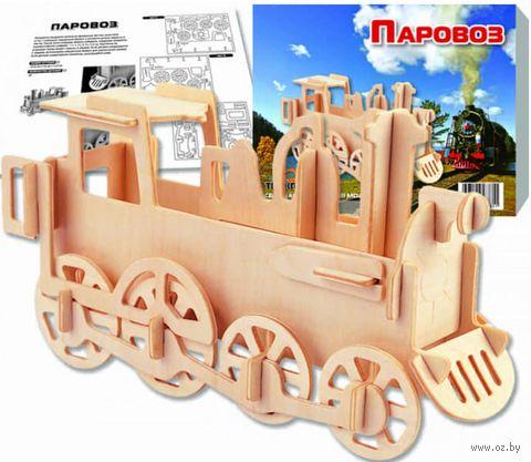 """Сборная деревянная модель """"Паровоз"""""""