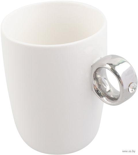 Кружка с ручкой в виде серебрянного кольца (300 мл)