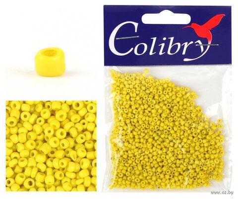 Бисер №62 (желтый, матовый)