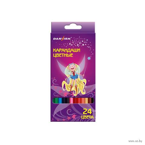 """Цветные карандаши """"Darvish"""" пластиковый корпус (24 цвета; арт. DV-1069-24)"""