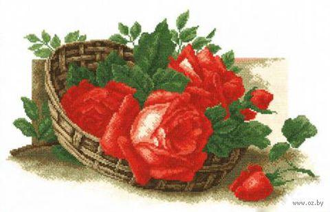 """Вышивка крестом """"Розы в корзине"""""""